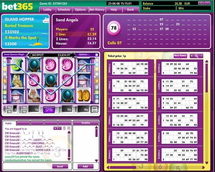 Bingo per Denaro Esempi di Gioco