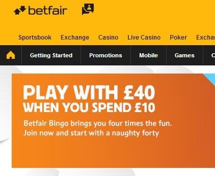 Online Bingo Site Betfair Bingo